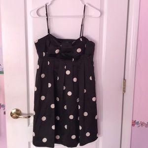 XXI Black and White Polka Dots Party Dress